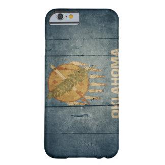 Drapeau en bois rocailleux de l'Oklahoma Coque iPhone 6 Barely There