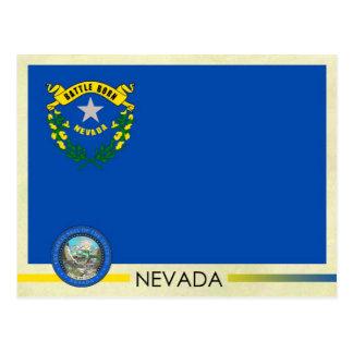 Drapeau et joint d état du Nevada Cartes Postales