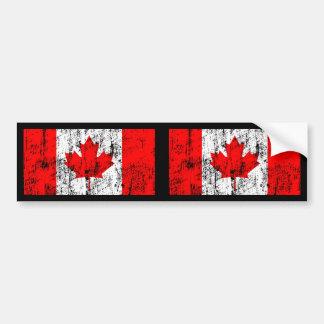 Drapeau fané du Canada Autocollant De Voiture