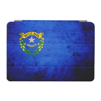 Drapeau grunge noir d état du Nevada Protection iPad Mini
