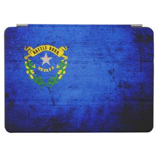 Drapeau grunge noir d état du Nevada Protection iPad Air