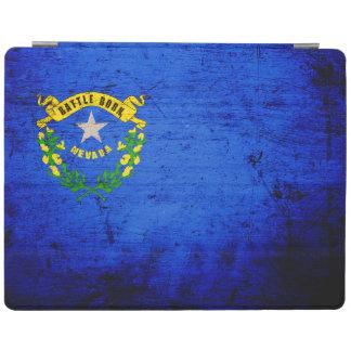 Drapeau grunge noir d état du Nevada Protection iPad