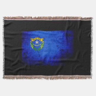 Drapeau grunge noir d état du Nevada Couverture
