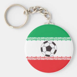Drapeau iranien avec le porte - clé de ballon de porte-clés