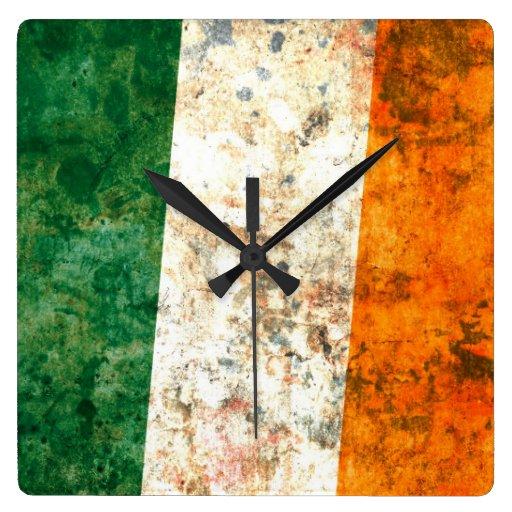 Drapeau irlandais pendule murale