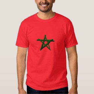 Drapeau marocaine avec des brosses t-shirt