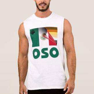 Drapeau mexicain Oso de fierté d'ours T-shirts Sans Manches