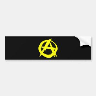 Drapeau noir et jaune de capitalisme d'Anarcho Autocollant De Voiture