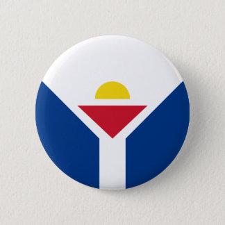 Drapeau of Saint Martin - Flag of Saint Martin 2 Inch Round Button