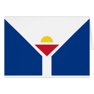 Drapeau of Saint Martin - Flag of Saint Martin Card