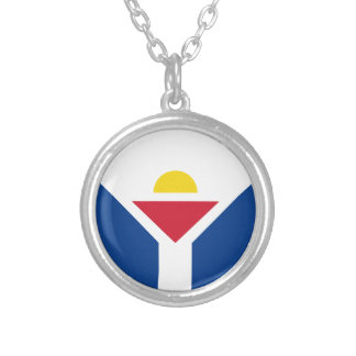 Drapeau of Saint Martin - Flag of Saint Martin Silver Plated Necklace
