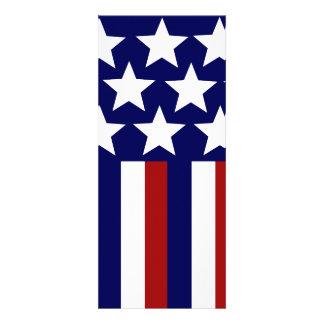 Drapeau patriotique de liberté de rayures d'étoile faire-part personnalisables
