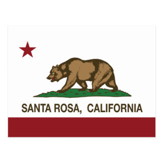 Drapeau Santa Rosa d'état de la Californie Carte Postale