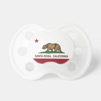 Drapeau Santa Rosa d'état de la Californie Tétines Pour Bébé