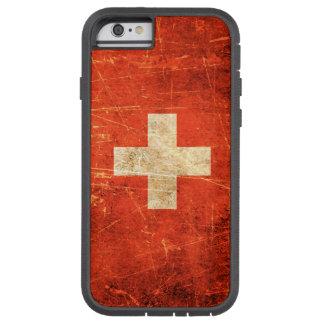 Drapeau suisse vintage rayé et porté coque tough xtreme iPhone 6