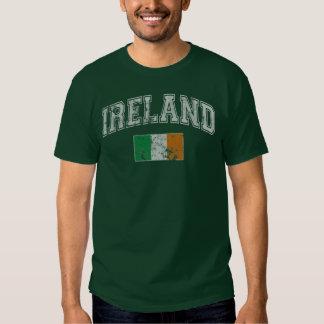 Drapeau vintage de l'Irlande Tee-shirts