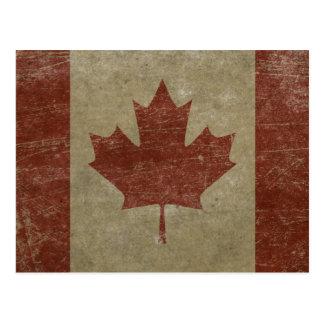 Drapeau vintage du Canada Cartes Postales