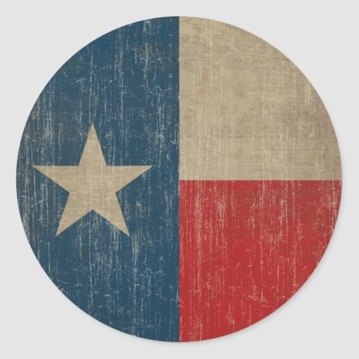 Drapeau vintage du Texas Autocollants