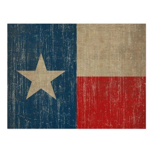 Drapeau vintage du Texas Carte Postale