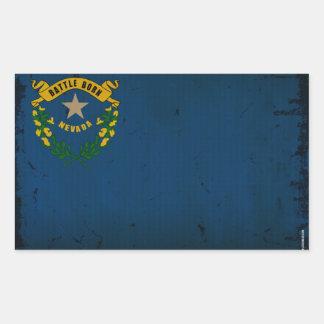 Drapeau VINTAGE.png d'état du Nevada Sticker Rectangulaire