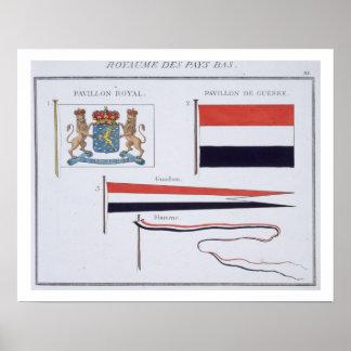 Drapeaux du royaume de Pays-Bas, d'a