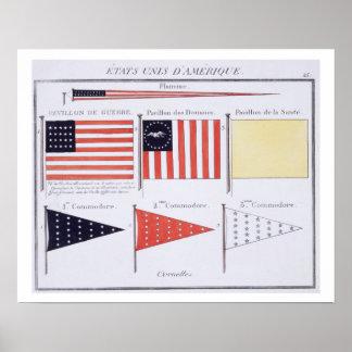 Drapeaux et fanions maritimes américains, d'un Fre