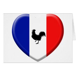 Drapeaux France coils cock Card