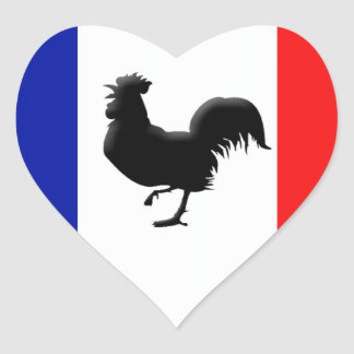 Drapeaux France coils cock Heart Sticker