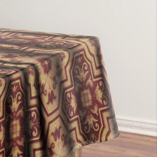 Draped Burgundy Latte coffee brown Tablecloth