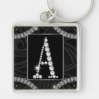 Draped In Diamonds - Initial A Keychain