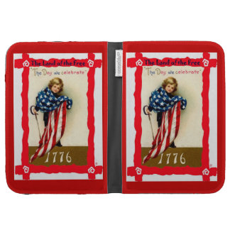 Draped in the American flag Kindle Covers