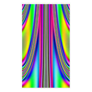 Draped Rainbows Fractal Business Card