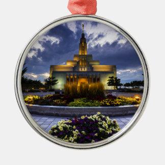 Draper Mormon Lds Temple - Utah Silver-Colored Round Ornament