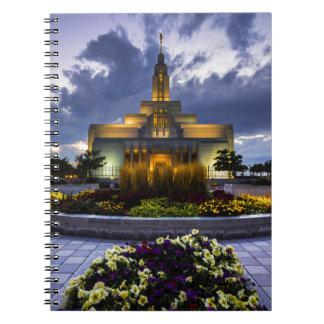 Draper Mormon Lds Temple - Utah Spiral Note Book