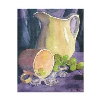 Drapes and Grapes Canvas Print