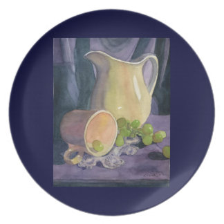 Drapes and Grapes Plate