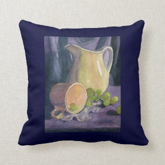 Drapes and Grapes Throw Pillow