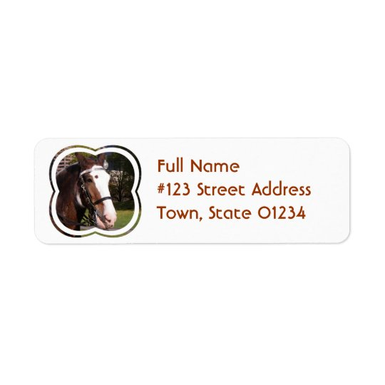 Draught   Horse Rescue Mailing Label Return Address Label
