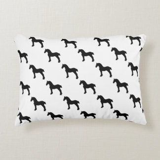 Draught   Horse Silhouette Accent Pillow