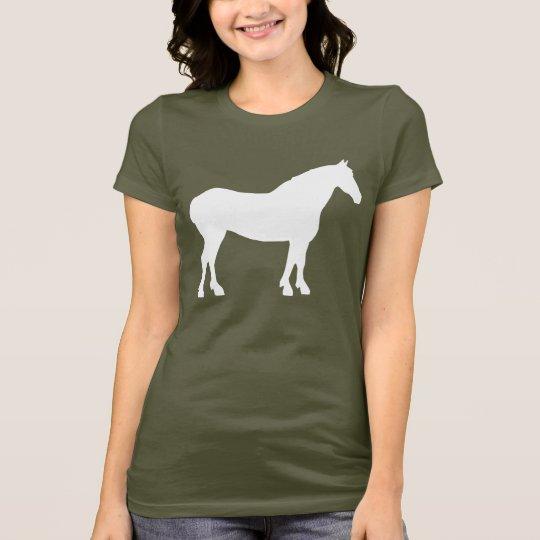 Draught   Horse (white) T-Shirt