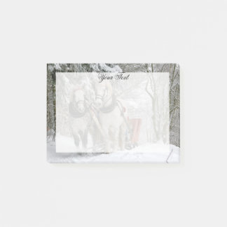 Draught   Horses Christmas Personalized Post-it Notes