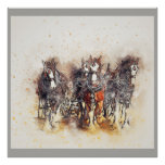 Draught   Horses, Clydesdales Artwork Photo Poster