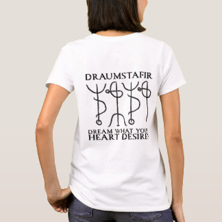 Draumstafir magical stave (black) T-Shirt