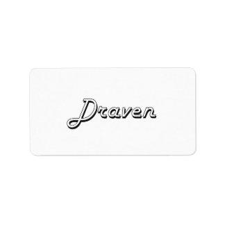 Draven Classic Retro Name Design Address Label
