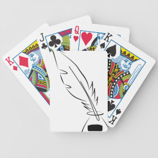 draw feather ink bicycle playing cards