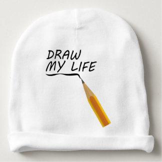 Draw my life baby beanie