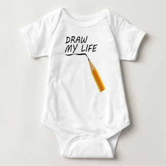 Draw my life baby bodysuit