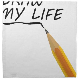 Draw my life napkin