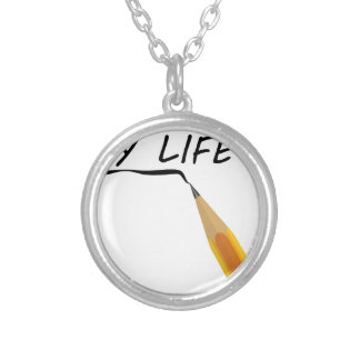 Draw my life silver plated necklace