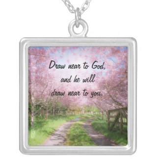 Draw Near To God Silver Plated Necklace